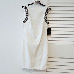 ZARA white mini dress with shoulder details